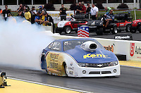 May 10, 2013; Commerce, GA, USA: NHRA pro stock driver Rodger Brogdon during qualifying for the Southern Nationals at Atlanta Dragway. Mandatory Credit: Mark J. Rebilas-