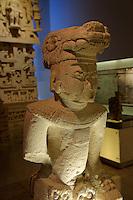 Anthropomorphic figure from Ek Balam, Gran Museo del Mundo Maya museum in Merida, Yucatan, Mexico      .