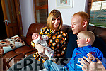 Seamus and Oonagh Scanlonn with their children Evie and Jake at their home in Currans.