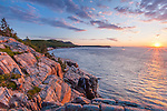 Sunrise at Otter Cliffs in Acadia National Park, Maine, USA