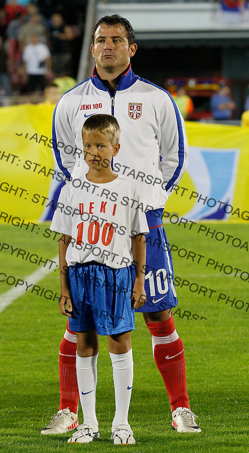 Fudbal, EURO 2012 Group C, qualifications.Serbia Vs. Farska Ostrva (Faroe Islands).Dejan Stankovic, 100 times play for national team.Beograd, 06.09.2011..Foto: Srdjan Stevanovic/Starsportphoto.com ©