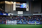 Rangers and Dumbarton observe a minutes silence in memory of the dead at the Ibrox disaster