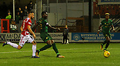 8th September 2017, SuperSeal Stadium, Hamilton, Scotland; Scottish Premier League football, Hamilton versus Celtic; Odsonne Edouard scores his first goal for Celtic and the 4th of the match