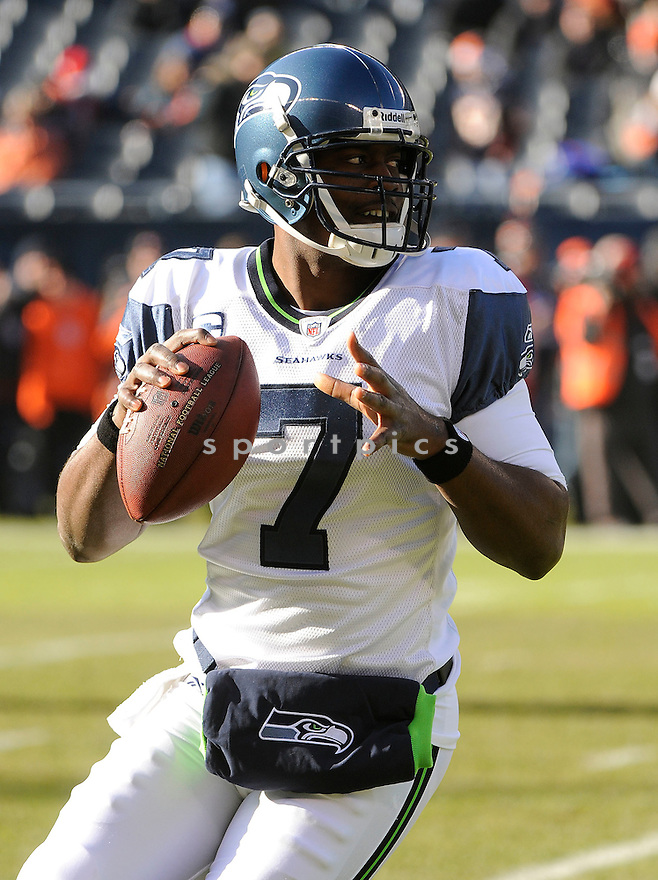 TAVARIS JACKSON, of the Seattle Seahawks, in action during the Seahawks game against the Chicago Bears on December 18, 2011 at Soldier Field in Chicago, IL. Seattle beat Chicago 38-14.