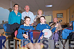 Sweet Sound of Music in the Day Room at Cahersiveen Hospital to become a regular feature, pictured front l-r; Nicola O'Sullivan, Aoife Sugrue, back l-r; Noirin Donnelly(Matron), Bill McNamara(Independent Volunteer Advocates), Noreen Sugrue(IVA), Michael O'Sullivan & Mary Sugrue.  ....Ref Sinead