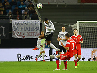 Kopfball Serge Gnabry (Deutschland Germany) gegen Roman Neustädter (Russland, Russia) - 15.11.2018: Deutschland vs. Russland, Red Bull Arena Leipzig, Freundschaftsspiel DISCLAIMER: DFB regulations prohibit any use of photographs as image sequences and/or quasi-video.