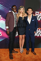 LOS ANGELES, CA - NOVEMBER 17: Carlos Knight, Gracie Dzienny and Ryan Potter at the TeenNick HALO Awards at The Hollywood Palladium on November 17, 2012 in Los Angeles, California. Credit mpi27/MediaPunch Inc. NortePhoto