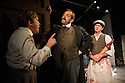 London, UK. 24.10.2014. THE GRAND-GUIGNOL, by Carl Grose, opens at Southwark Playhouse. Picture shows: Jonathan Broadbent (De Lorde), Andy Williams (Maurey) and Paul Chequer (Ratineau).  Photograph © Jane Hobson.