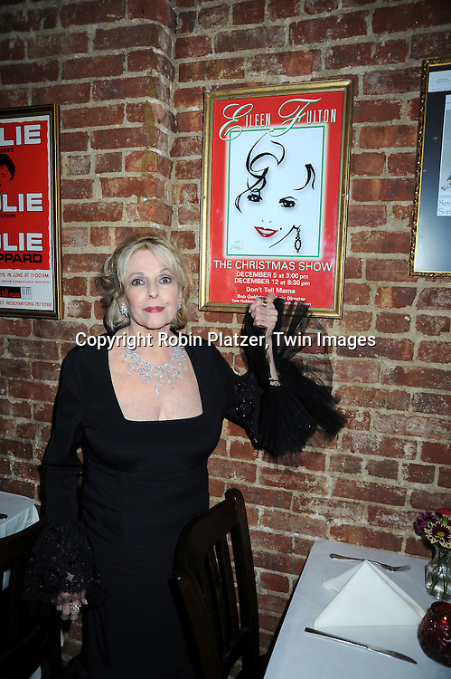 singer and actress Eileen Fulton performing at Don't Tell Mama on April 18, 2010 in New York City. Eileen Fulton has been on As The World Turns for 50 years. .photo by Robin Platzer/ Twin Images