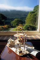 Europe/Grande Bretagne/Ecosse/Highland/Invergarry : Glen Garry Castle le château abrite un hôtel - Thé, biscuits et journal du jour