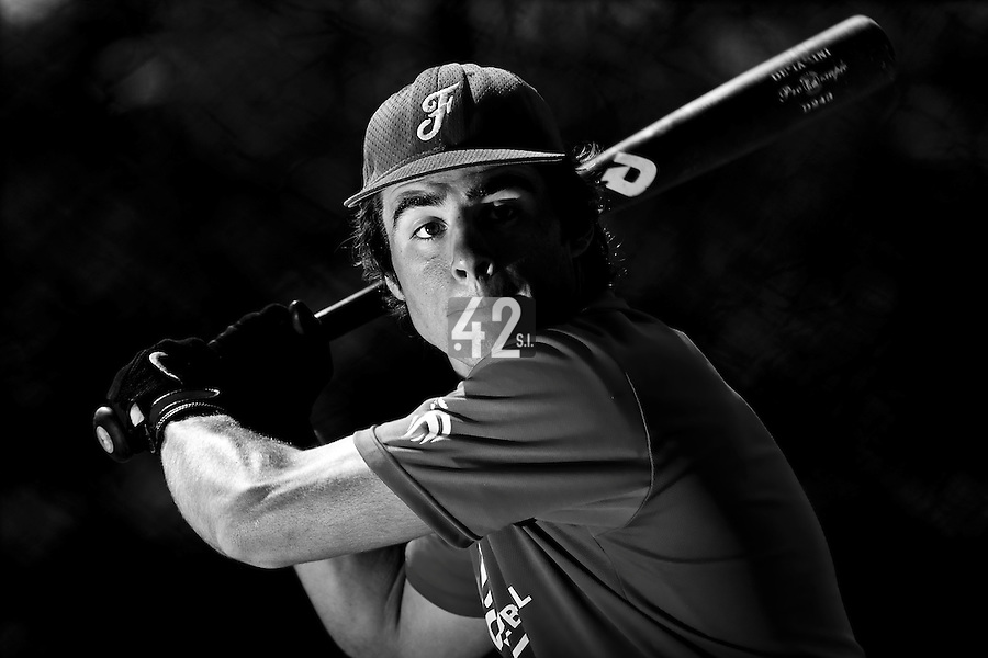 Arthur Paradinas (France) takes batting practice during a 12 days training camp in Cuba, accross the country.