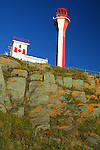 Images of The Canadian Maritime Provinces of Nova Scotia and Prince Edward Island. Yarmouth Lighthouse, Nova Scotia, Canada