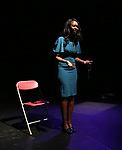 """Immaculee Ilibagiza on stage during """"Miracle in Rwanda"""" honoring International Day of Reflection on the 1994 Genocide against the Tutsi in Rwanda at the Lion Theatre on Theater Row on April 7, 2019 in New York City."""