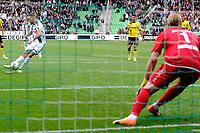 GRONINGEN - Voetbal, FC Groningen - VVV Venlo,  Eredivisie , Noordlease stadion, seizoen 2017-2018, 10-09-2017,   FC Groningen speler Mimoun Mahi mist strafschop