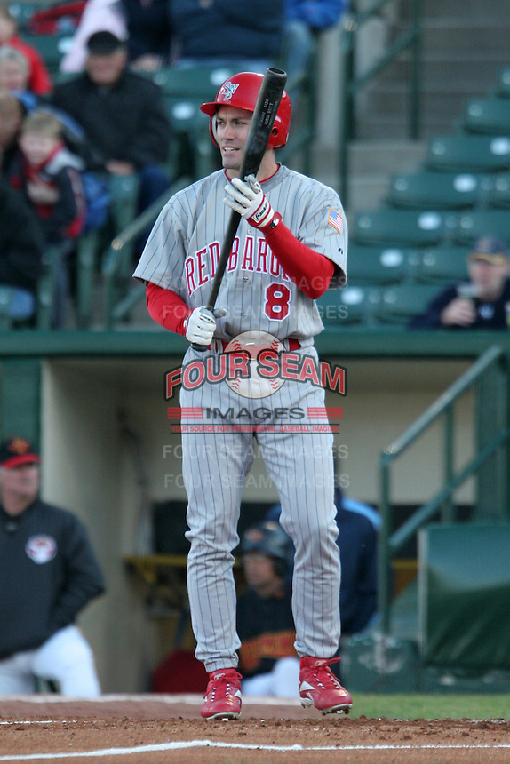 Scranton Wilkes-Barre Red Barons Peter Bergeron during an International League game at Frontier Field on May 19, 2006 in Rochester, New York.  (Mike Janes/Four Seam Images)
