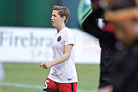 Portland, Oregon - Sunday September 11, 2016: Portland Thorns FC defender Meghan Klingenberg (25) prior to a regular season National Women's Soccer League (NWSL) match at Providence Park.