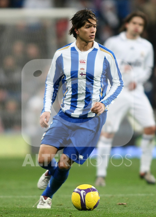 Deportivo de la Coruna's Ze Castro during La Liga match.January 25 2009. (ALTERPHOTOS/Acero).