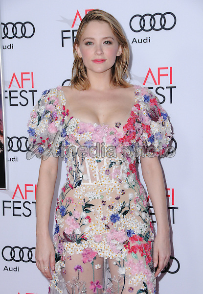 """10 November 2016 - Hollywood, California. Haley Bennett. AFI FEST 2016 - Opening Night Premiere Of """"Rules Don't Apply"""" held at TCL Chinese Theater. Photo Credit: Birdie Thompson/AdMedia"""