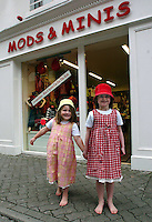 Aine Coleman, left and Sorcha McCloskey wearing wome of the latest fashions available from Mods &amp; Minis in New Street, Killarney. The shop specialises in clothes for girls 0-16 and boys 0-8 selling the latest fashions with affordable prices.<br />