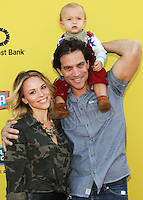 SANTA MONICA, CA, USA - NOVEMBER 16: Julie Solomon, Johnathon Schaech, Camden Schaech arrives at the P.S. ARTS Express Yourself 2014 held at The Barker Hanger on November 16, 2014 in Santa Monica, California, United States. (Photo by Celebrity Monitor)