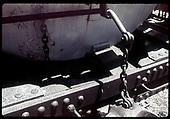 Uncoupler lever detail on work car.<br /> D&amp;RGW