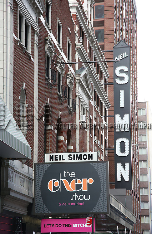 Broadway Theatre Marquee unveiling for 'The Cher Show'. Cher will be played by Stephanie J. Block, Teal Wicks, and Micaela Diamond. The cast includes Jarrod Spector as Sonny Bono,  Michael Berresse as Bob Mackie, Michael Campayno as Rob Camilletti, Matthew Hydzik  as Gregg Allman, and Emily Skinner as Georgia Holt  at the Neil Simon Theatre Theatre on August 3, 2018 in New York City.