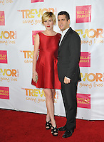 Molly Ringwald &amp; husband Panio Gianopoulos at the 2014 TrevorLIVE Los Angeles Gala at the Hollywood Palladium.<br /> December 7, 2014  Los Angeles, CA<br /> Picture: Paul Smith / Featureflash