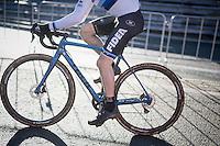 European Champion Quinten Hermans (BEL/U23/Telenet-Fidea) leading the U23 race from start to finish on his Euro-bike<br /> <br /> 2016 CX Superprestige Spa-Francorchamps (BEL)