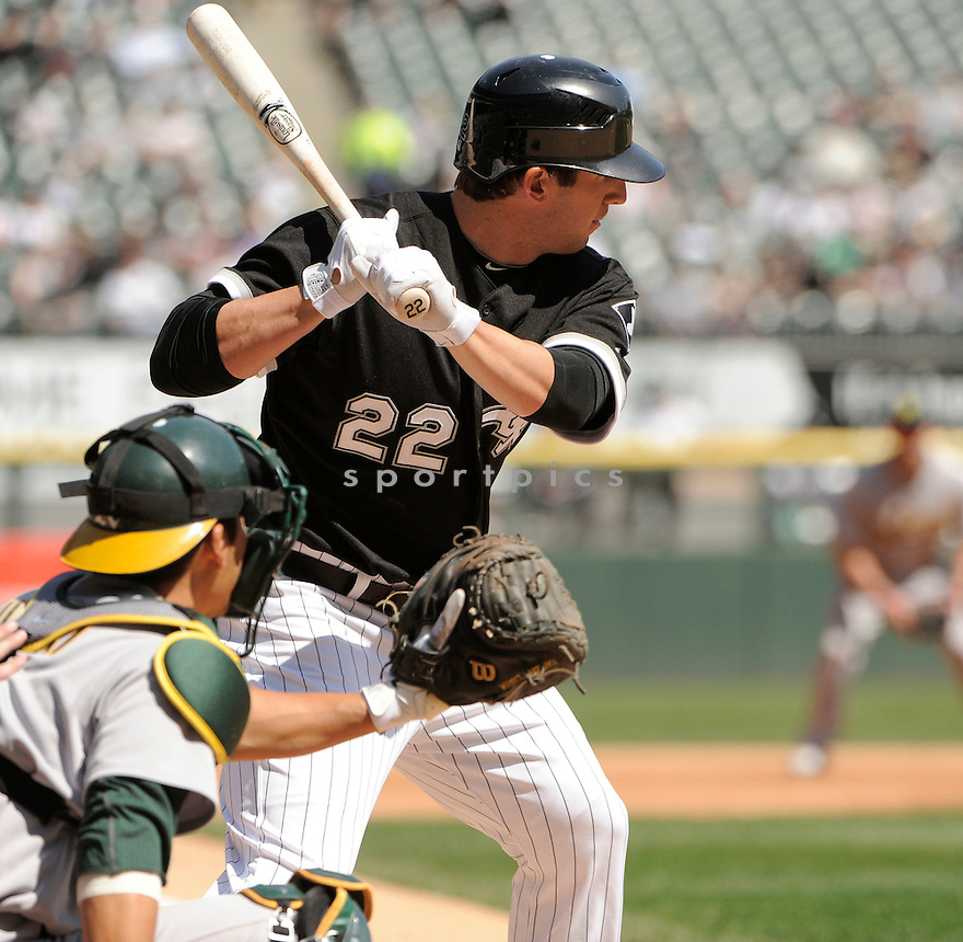 BRENT MOREL, of the Chicago White Sox, in action during the Sox game against the Oakland A's on April 13, 2011 at US Cellular Field in Chicago, Illinois.  The Oakland A's beat the Chicago White Sox 7-4.