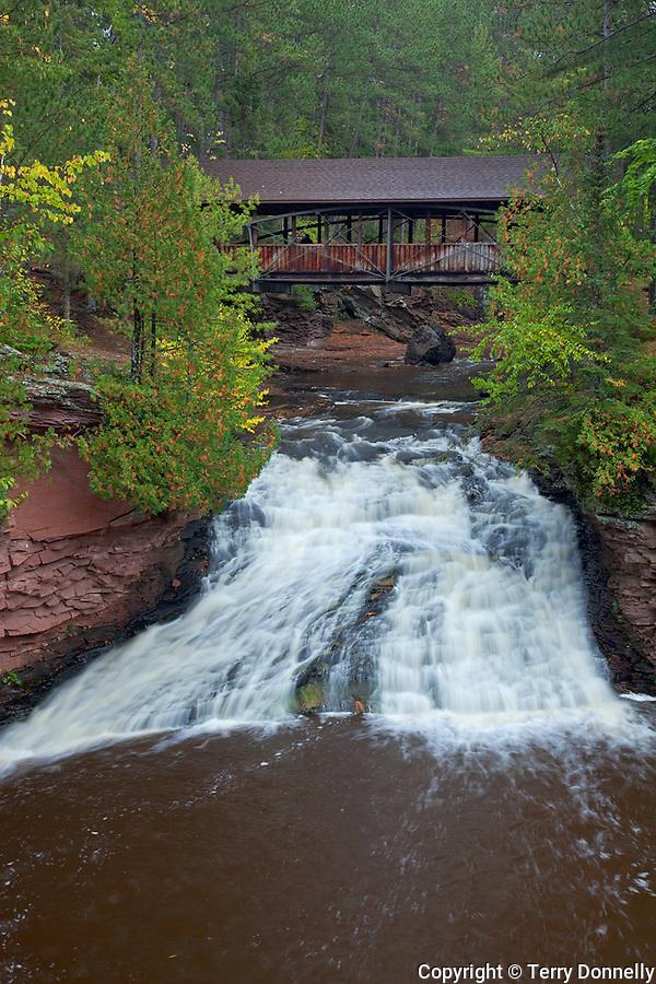 Amnicon Falls State Park, WI<br /> Covered bridge over the Amnicon River