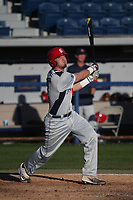 Nick Warren (10) of the Fresno State Bulldogs bats against the Pepperdine Waves at Eddy D. Field Stadium on March 7, 2017 in Los Angeles, California. Pepperdine defeated Fresno State, 8-7. (Larry Goren/Four Seam Images)