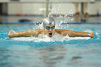 SAN ANTONIO, TX - FEBRUARY 21, 2009: The University of Texas of the Permian Basin Falcons compete during Day 3 of the Rocky Mountain Athletic Conference Swimming & Diving Championships held at the Josh Davis Natatorium. (Photo by Jeff Huehn)