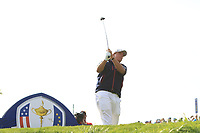 Phil Mickelson (Team USA) on the 7th tee during the Friday Foursomes at the Ryder Cup, Le Golf National, Ile-de-France, France. 28/09/2018.<br /> Picture Thos Caffrey / Golffile.ie<br /> <br /> All photo usage must carry mandatory copyright credit (© Golffile | Thos Caffrey)