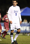 10 November 2010: Duke's Ryan Finley. The Duke University Blue Devils played the Boston College Eagles at Koka Booth Stadium at WakeMed Soccer Park in Cary, North Carolina in an ACC Men's Soccer Tournament Quarterfinal game.
