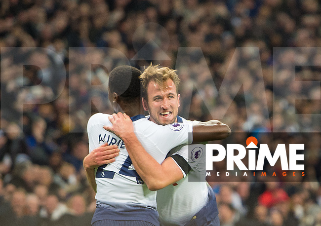 Tottenham's Harry Kane  celebrating his goal during the Premier League match between Tottenham Hotspur and Chelsea at Wembley Stadium, London, England on 24 November 2018. Photo by Andrew Aleksiejczuk / PRiME Media Images.