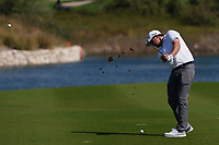 Eddie Pepperell (ENG) on the 18th during Round 1 of the Commercial Bank Qatar Masters 2020 at the Education City Golf Club, Doha, Qatar . 05/03/2020<br /> Picture: Golffile | Thos Caffrey<br /> <br /> <br /> All photo usage must carry mandatory copyright credit (© Golffile | Thos Caffrey)