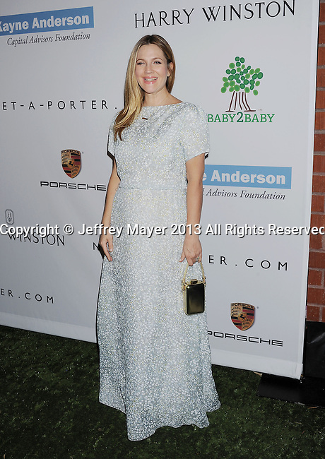 CULVER CITY, CA- NOVEMBER 09: Actress Drew Barrymore arrives at the 2nd Annual Baby2Baby Gala at The Book Bindery on November 9, 2013 in Culver City, California.