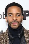 """Andre Holland attends the """"Sea Wall / A Life"""" opening night at The Public Theater on February 14, 2019, in New York City."""