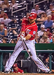 6 August 2016: Washington Nationals first baseman Clint Robinson pinch hits against the San Francisco Giants at Nationals Park in Washington, DC. The Giants defeated the Nationals 7-1 to even their series at one game apiece. Mandatory Credit: Ed Wolfstein Photo *** RAW (NEF) Image File Available ***