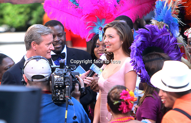 NEW YORK,NY - JUNE 4: Miranda Kerr visits the tv show Fox &amp; Friends at Fox News Channel in New York City. June 4, 2013. <br />