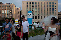 NEW YORK - JUNE 25: Activity on the Highline in New York City.(Photo by Landon Nordeman)