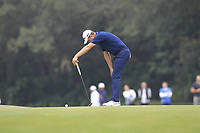 Justin Rose (ENG) on the 15th green during Round 3 of the UBS Hong Kong Open, at Hong Kong golf club, Fanling, Hong Kong. 25/11/2017<br /> Picture: Golffile | Thos Caffrey<br /> <br /> <br /> All photo usage must carry mandatory copyright credit     (&copy; Golffile | Thos Caffrey)