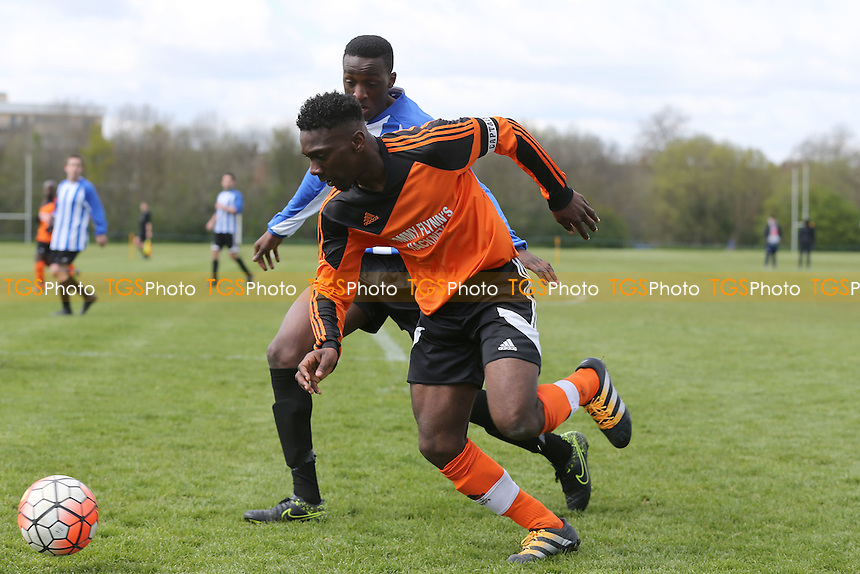Tommy Flynns (Orange) vs Wojak Sunday, Hackney & Leyton Sunday League Jack Walpole Cup Final Football at Hackney Marshes on 24th April 2016