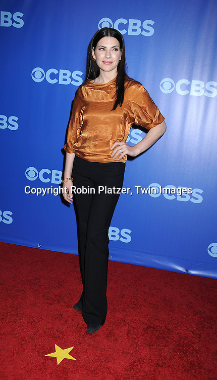 """Julianna Margulies of """" The Good Wife""""  arriving at The CBS UPfront presentation of their 2010-2011 Fall Season on May 19, 2010 at Lincoln Center."""