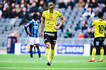 Stockholm 2014-04-06 Fotboll Allsvenskan Djurg&aring;rdens IF - Halmstads BK :  <br /> Halmstads Richard Magyar deppar<br /> (Foto: Kenta J&ouml;nsson) Nyckelord:  Djurg&aring;rden DIF Tele2 Arena Halmstad HBK depp besviken besvikelse sorg ledsen deppig nedst&auml;md uppgiven sad disappointment disappointed dejected