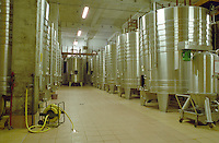 Fermentation tanks. Domaine Couly Dutheil, Chinon, Loire, France