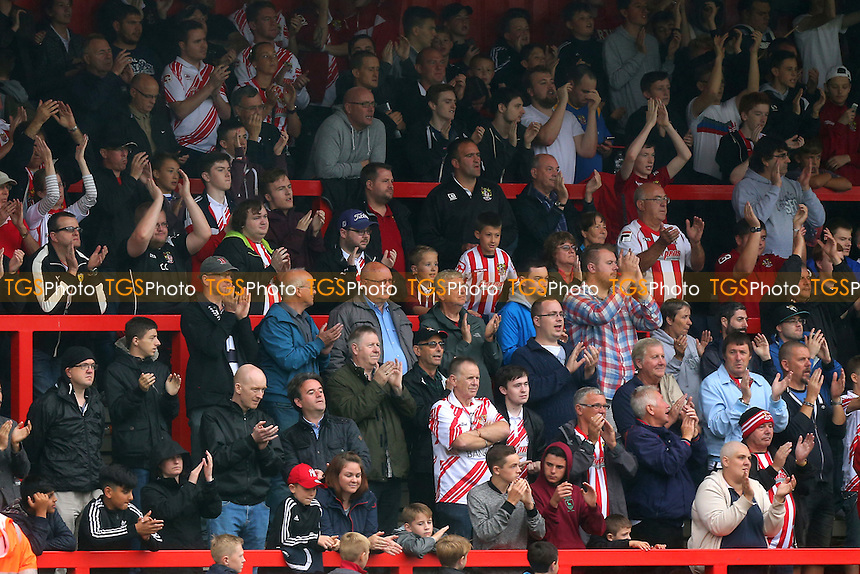 Stevenage fans during Stevenage vs Crawley Town, Sky Bet EFL League 2 Football at the Lamex Stadium on 10th September 2016