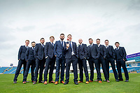 Picture By Allan McKenzie/SWpix.com - 06/04/18 - Cricket - Yorkshrie County Cricket Club Opening Season Lunch 2018 - Emerald Headingley Stadium, Leeds, England - Gary Ballance with his capped first XI prior to the County's opening season lunch.