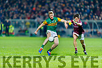 Tommy Walsh, Kerry in action against Sean Kelly, Galway  during the Allianz Football League Division 1 Round 2 match between Kerry and Galway at Austin Stack Park in Tralee, Kerry.