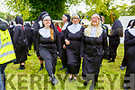 Dancing Nuns, Susan, Bernadette and Linda Brown (Fenit) gathering in an attempt to break the Guinness World Record in the Tralee Town Park's fundriaser for the Tralee Rowing Club and Pieta House on Saturday.